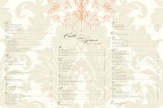 Elegant vintage damask wedding seating chart board with by itcoa, $50.00