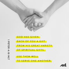 What is one gift God has blessed you with, and how do you use that gift to serve others? #VOTD #Bible #SpiritualGifts