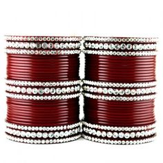 acrylic plastic suhag panjubi chura maroon colour  size-2.4,2.6,2.8,2.10 - Online Shopping for Bracelets n Bangles by VIDHYA KANGAN STORE
