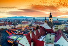 Sibiu central square in Transylvania, Romania © Calin Stan / Shutterstock
