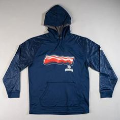 Navy Bacon Hoodie