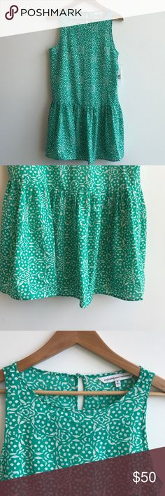 Cupcakes and Cashmere Drop Waist Mini Dress Green Cupcakes and Cashmere Drop Waist Mini Dress in Green and Cream. Size Small. Never worn with tags. Perfect for a wedding or date night. Cupcakes and Cashmere Dresses Mini