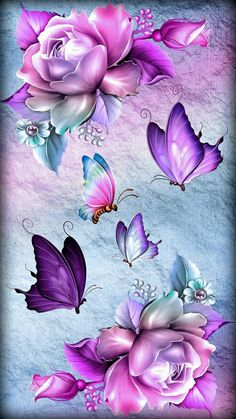 Butterfly Artwork, Butterfly Background, Butterfly Wallpaper Iphone, Butterfly Pictures, Flower Background Wallpaper, Cute Wallpaper Backgrounds, Cellphone Wallpaper, Flower Backgrounds, Colorful Wallpaper