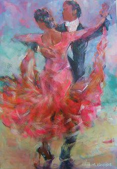Dancers 62 - Gallery of Dancing Paintings by Woking Surrey Artist Sera Knight
