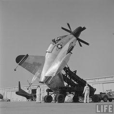 Standing up the Convair XFY Pogo (J.R. Eyerman. 1954)