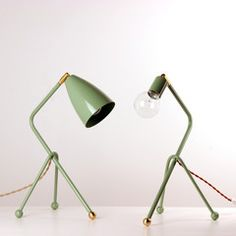 Tripod desk lamp - great way to add bright accent colors