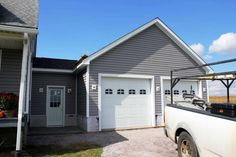 Sunshine Ct Attached Garage with Attic Truss - Exterior Ultimate Closet Makeovers - Wire Shelving Ho Barn Garage, Garage Plans, Garage Ideas, Garage Loft, Bungalow House Plans, Small House Plans, Garage Construction, Garage Addition, Porch Addition