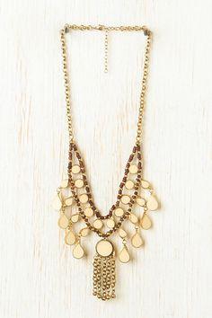 Multi-layer  Tassel Necklace  #Romwe