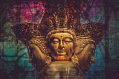 """Bodhisattva"" Fused Image by Kevin Su Prints For Sale, Buddha, Digital Art, Statue, Photography, Image, Beautiful, Photograph, Photo Shoot"