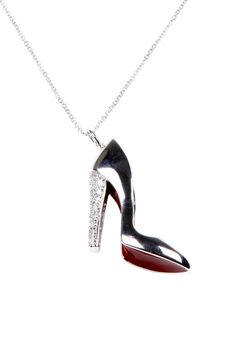 Red Bottom Shoe Necklace #prom