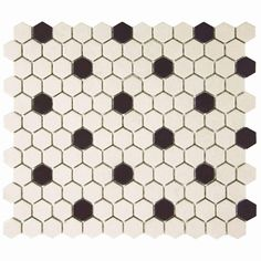 Merola Tile Gotham Hex Antique White with Black Dot 10-1/4 in. x 12 in. Unglazed Porcelain Floor and Wall Tile (8.54 sq. ft. / case)-FXLGHWD at The Home Depot $6.95 / sq. ft.