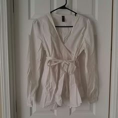 Old Navy Maternity White V-neck Crossover Blouse Great condition, cotton nylon spandex blend. Old Navy Tops Blouses