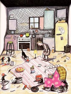 J'attends...: Le grand désordre. Kitty Crowther's Little Devils