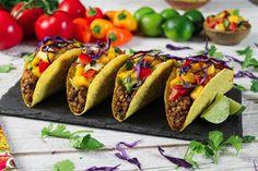 Lentil Mushroom Tacos w/ Mango Salsa
