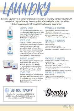 www.ashleyo.scentsy.us Laundry Love!!! Love all Laundry Products with Scentsy!!!