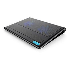 "Laptop Cooling Pad TeckNet Ultra-Slim Portable Laptop Notebook Cooling Pad 2 USB Powered Fans Laptop Cooler Fits 9""-16"""