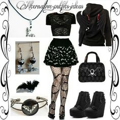 Repost from @alternative.outfits.ideas  #Style #fashioninspiration #RebelsMarket #gothgirl #Goth #everydaywewearblack #batgirl