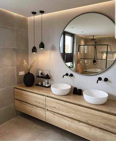 Bathroom Design Luxury, Home Interior Design, Minimalist Bathroom Design, Modern Luxury Bathroom, Modern Bathrooms, Design Interiors, Dream Bathrooms, Interior Modern, Modern Furniture