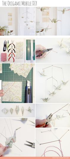 The Origami Mobile DIY by Marion Pierret