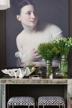 Beautiful vignette -- OUR DESIGN STUDIO