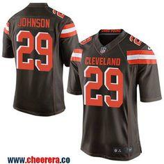 Men's Cleveland Browns #29 Duke Johnson Jr Brown Team Color Stitched NFL Nike Elite Jersey