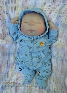 Fretta's OOAK Soft Sculptured Newborn Baby by FrettasLovableDolls, $96.00