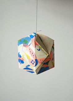 Japanese pattern geometric paper ball origami
