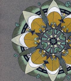 Olive Mandala - Original Illustration - via Etsy.