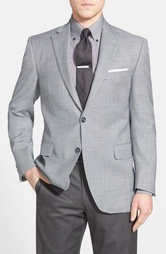 Peter Millar 'Flynn' Classic Fit Check Wool Sport Coat available at #Nordstrom