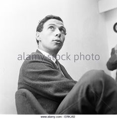 Jim Clark, British Formula One racing driver from Scotland, pictured at news press conference, 9th September 1963. Jim Clark won two World Championships, in 1963 and 1965. - Stock Image