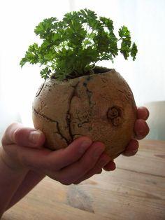 Ceramic Birds, Ceramic Planters, Ceramic Pottery, Garden Planters, Planter Pots, Wall Planters, Painted Clay Pots, Clay Pot Crafts, Garden Items