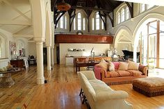 Converted church to home in London