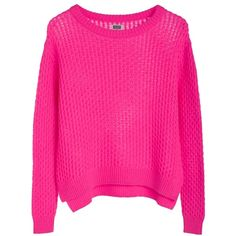 Listen Knit Sweater ❤ liked on Polyvore