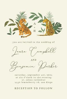Cat Safari - Wedding Invitation #invitations #printable #diy #template #wedding Safari Wedding, Free Wedding Invitations, You Are Invited, Response Cards, Printable, Island, Cat, Ideas, Cat Breeds