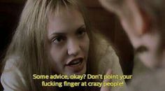 don't point your finger at crazy people