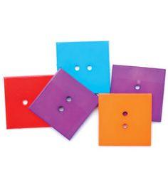 Favorite Findings Buttons- Large Squares 5/Pkg & theme & novelty buttons at Joann.com reg. $2.29
