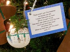 Handprint Snowman Poem