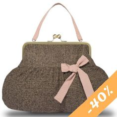 Pink Pin Spot Tweed Shoulder Bag 41