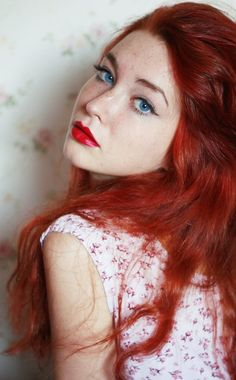 red hair blue eyes