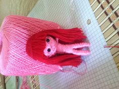 Authentic Yarn Doll (Me) Knit Crochet, Crochet Hats, Yarn Dolls, Mermaid, Daughter, Sewing, Knitting, Projects, Crafts