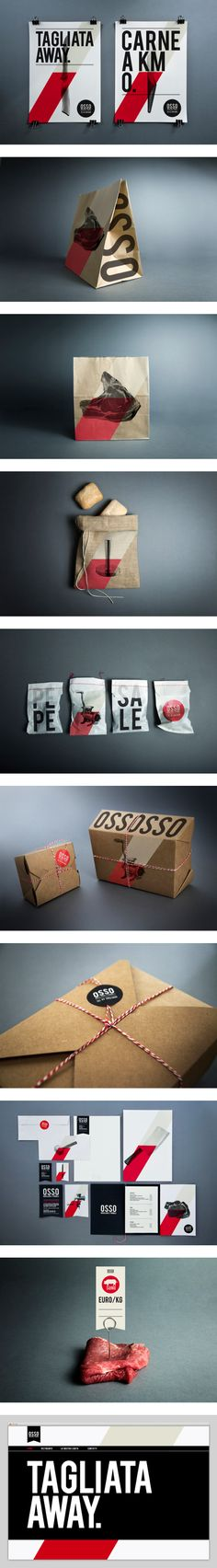 OSSO, a butcher shop in Milan, by Luca Fontana - Food Branding and Packaging