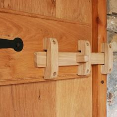 Handcrafted Solid Oak Slide Bolt - Lilly is Love Wooden Hinges, Wooden Gates, Wooden Doors, Diy Wood Projects, Wood Crafts, Into The Woods, Diy Holz, Solid Oak, Wood Furniture