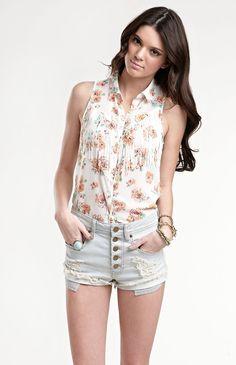 Kendall & Kylie Fringe Sleeveless Shirt #KandK4PacSun #PacSun