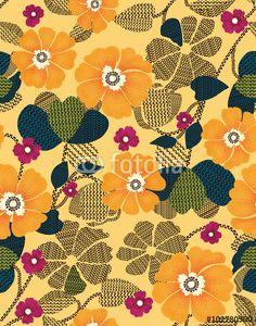 The repeat design / flower and geometric design illustration