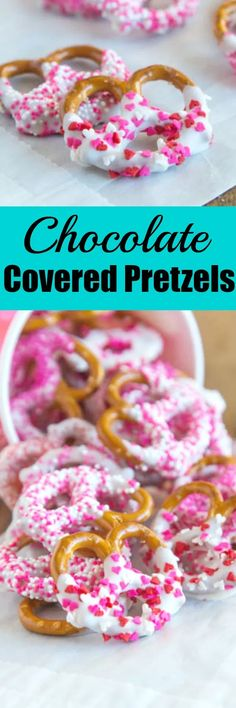 Chocolate Covered Pretzels - super easy and fun treat for any occasion. A sweet and salt treat that you can make in minutes and decorate for any holiday. Pretzels dipping in white chocolate and coated in sprinkles. Valentine Desserts, Chocolate Covered Pretzels Recipe, Pretzel Dip, Low Carb Cheesecake, Strawberry Puree, Unsweetened Chocolate, Food Stamps, Gluten Free Cakes, Shredded Coconut
