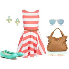 Striped Summer, created by bridgetteraes on Polyvore