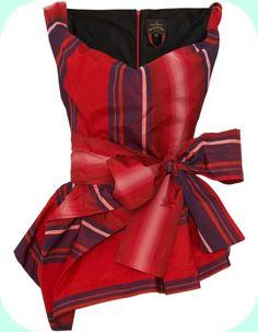 Tartan top • Vivienne Westwood --- Really liking the way it's draped.
