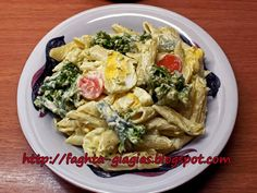 Greek Recipes, Real Food Recipes, Pastry Cake, Easter Recipes, Penne, Diy Food, Pasta Salad, Broccoli, Potato Salad