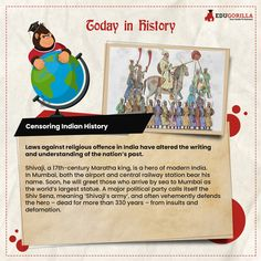 Today in History Laws against religious offence in India have altered the writing and understanding of the nation's past. #todayhistory #didyouknow #didyouknowthat #edugorilla #education #learning #students #teachers #success #inspiration #motivation #knowledge #WorldWar #WorldWar1 Today History, Modern India, Online Tests, Study Materials, Students, Knowledge, Success, Writing, Motivation