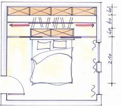 Schrankraum hinter dem Bett mit Dressglider